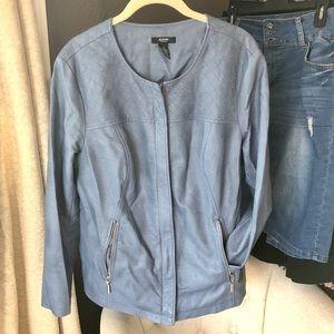 Alfani blue leather jacket